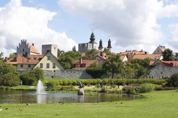 visby tour gotland island sweden panoramic view of visby